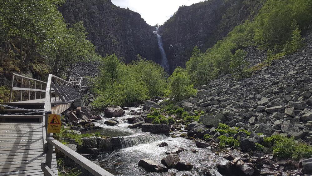 högsta vattenfallet i sverige